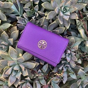 Tory Burch Mini Key Card Holder Leather Wallet!
